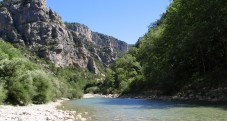 River Verdon, in the Gorges du Verdon, Provence, South France, view from bottom